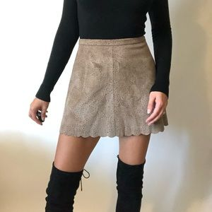 "{BCBGMaxAzria} NWT ""Sheryl"" scalloped mini skirt"